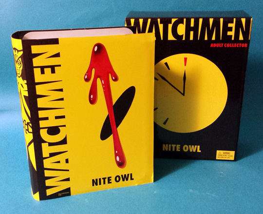 Nite Owl Watchmen action figure box