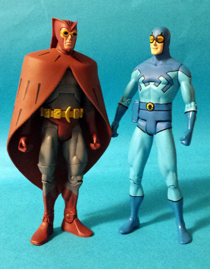 Nite Owl and Blue Beetle Action Figures