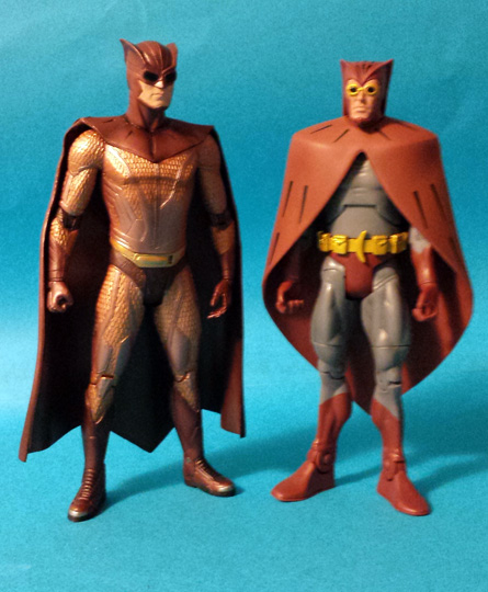 Movie Nite Owl and Comic Nite Owl Action Figures