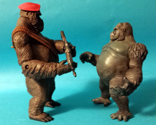 Monsier Mallah and Grodd action figures