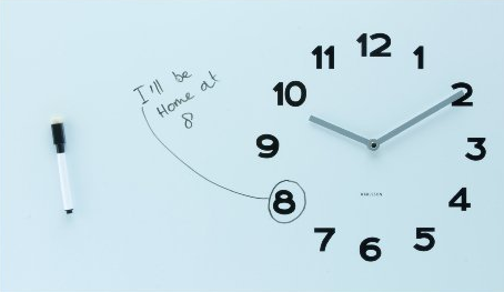 Karlsson Wall Clock Pure White Board Has The Best Of Both Worlds Source:  The Red Ferret Journal   Gadgets, Cool Sites, Freeware And Tech Trivia